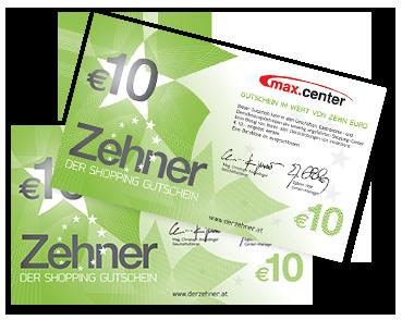 Der max.center-ZEHNER Gutschein