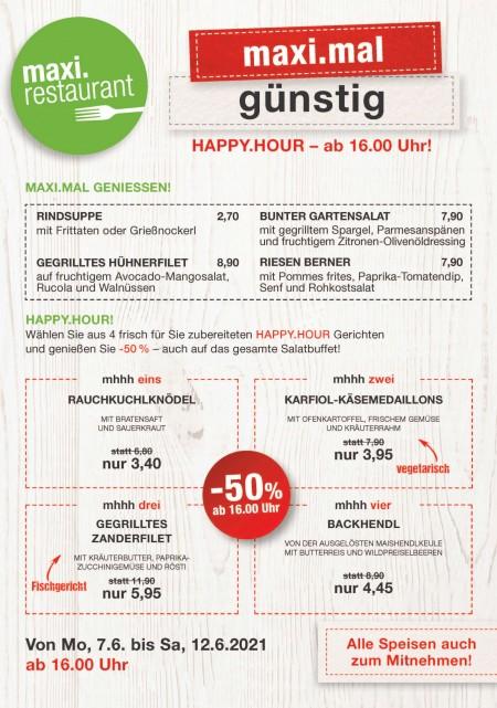 happy hour menüs